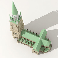 3dsmax church cathedral gothic