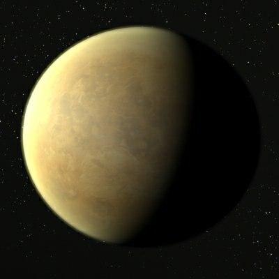 3d model venus planet