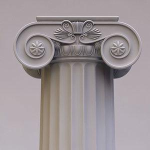 column ionique 3d 3ds