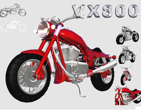 suzuki vx800 3d model
