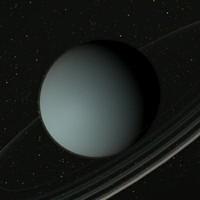 uran planet 3d max