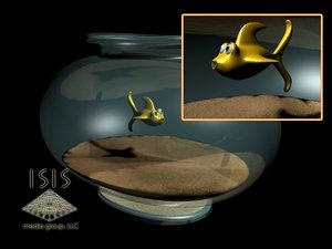 3d model fish bowl