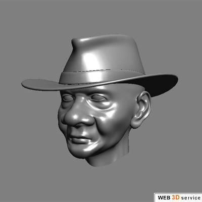 old male head 3d model