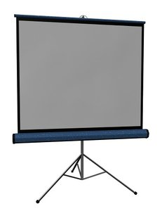 portable projection screen 3d model