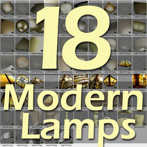 lamp glass metal 3d max
