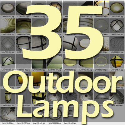 exterior lamps 3ds