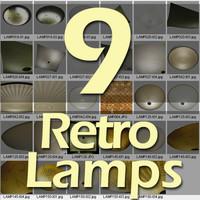 3d retro lamps model