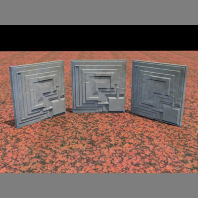 architectural block tile 3d lwo