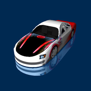 modelled sports car 3d model