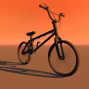 bmx bicycle 3d 3ds
