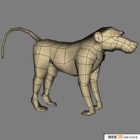 baboon 800 3d model