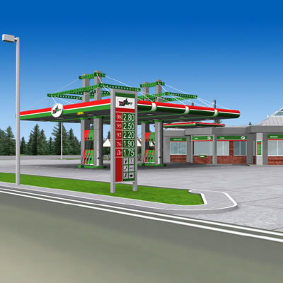 tatneft gas station 3d model