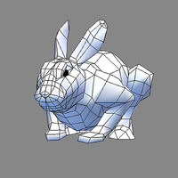 real time hare 3d model