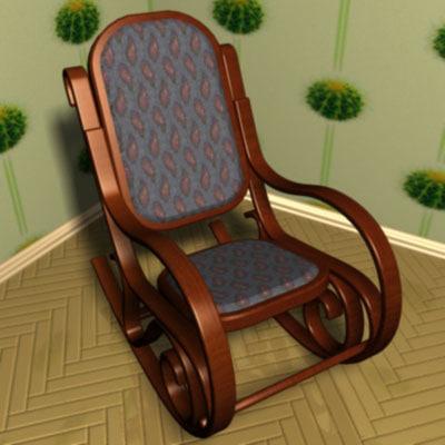 armchair-rocking chair 3d x
