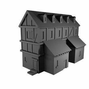 house taverne 3d 3ds