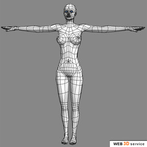3d model slim female character