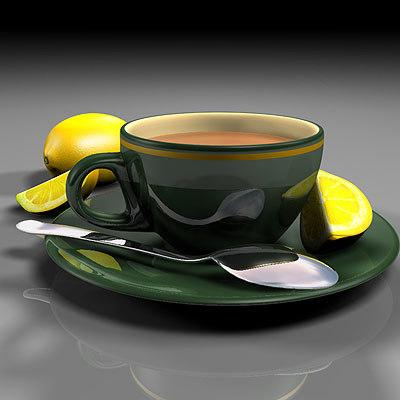 3d model lemon tea cup