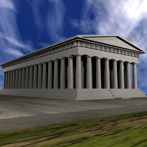 greece temple 3d model