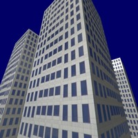 high-rise building 3d max