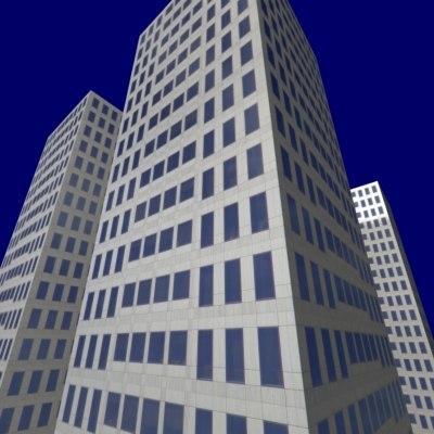 high-rise building 3d max