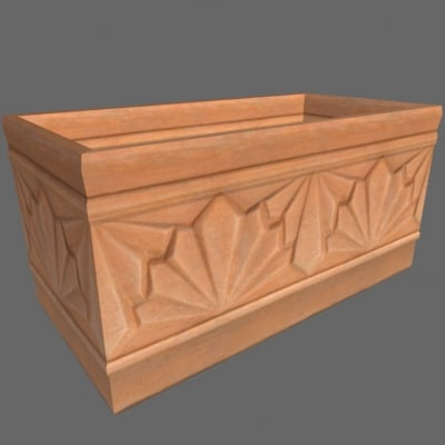 terra cotta planter box 3d 3ds
