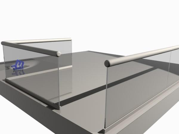 3ds max glass railing file