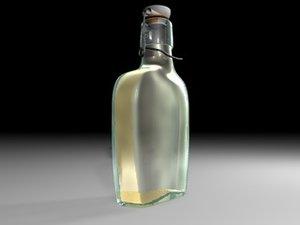 bottle old stopper 3d model