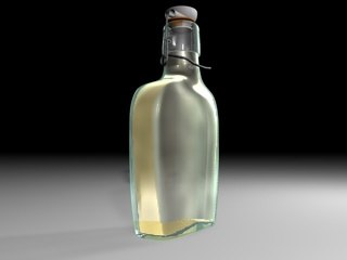 bottle old stopper 3d model