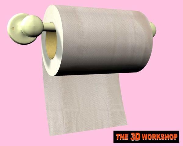 free toilet paper holder roll 3d model