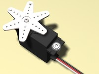 remote control micro servo 3d model