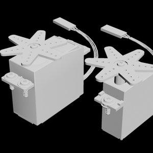 3d servo rc futaba model