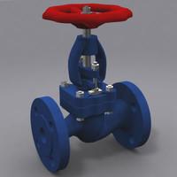globe valves 3d model