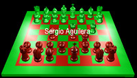 chess ajedrez 3d model