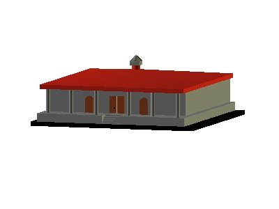 spanish style house building 3ds free