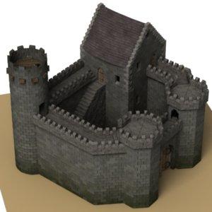 3d model medievel castle