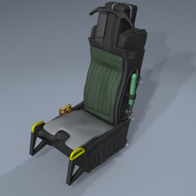 aces ii ejection seat 3d model