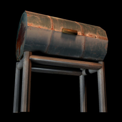 3ds max old grill barrel