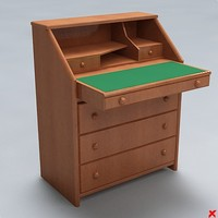 3d desk furniture table model