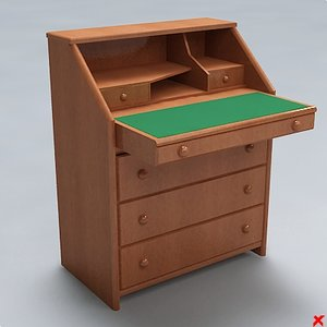 3d desk furniture table model