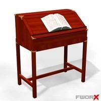 3d desk furniture table