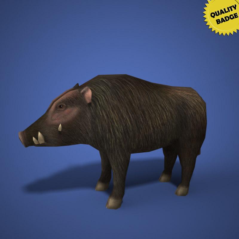 3d boar animal lightwave