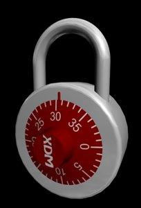 3d model combination lock