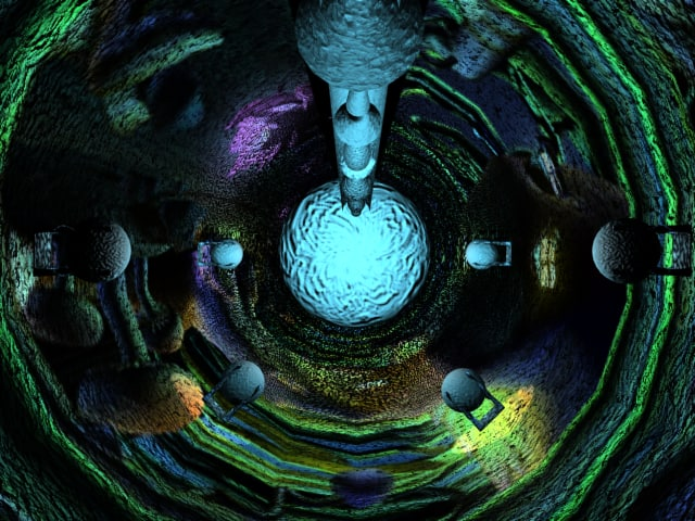 3d psychodelic tunnel model