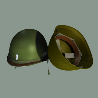 helmet hight level 3d model