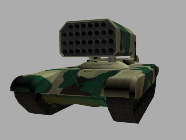 tos 1 launcher 3d model