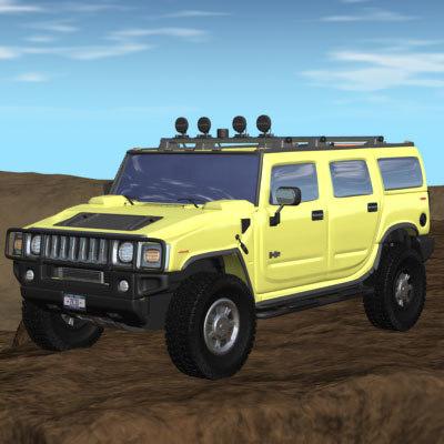 hummer h2 3d model