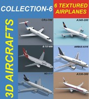 6 Textured Airplanes 6