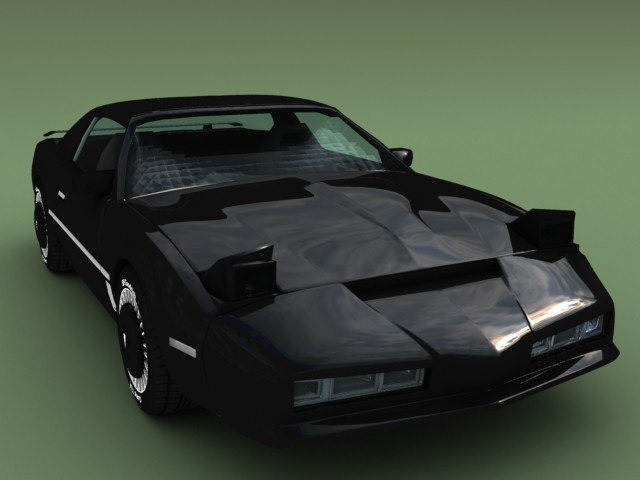 pontiac trans knightrider 3d model