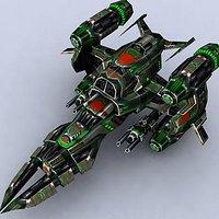 3dsmax sci-fi space fighter