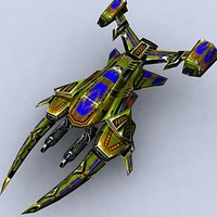 3ds max sci-fi space fighter